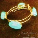 """Isle Flottante"" Sea Foam colored Chrysoprase Nugget Bracelet $79"