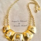 14K Gold Overlay and Silver Foiled Necklace $169