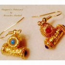 Antiquities inspired artisan crafted 18 K Gold overlay earrings $39