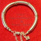 Swarovski Crystal and Silver Bead Cap bracelet  $59
