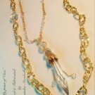 Set of 2 18K Gold Overlay Swarovski Crystal Austrian Chndelier Drop Necklaces $189