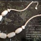 Elegant white Agate and Sterling Silver Overlay Necklace $89