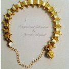14K Gold Overlay Florentine Bracelet $49
