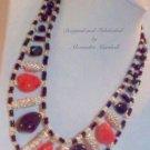 Pink Jade & Black Obsidian Necklace $139.