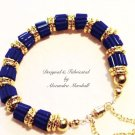 Blue Lapis 18K Gold Overlay Bracelet $89