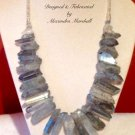 Titanium Coated Blue Quartz Points Necklace $169