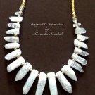 Rocky Crystal Shard Necklace $119