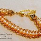 Peach Freshwater Pearl Bracelet $49