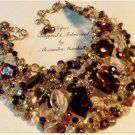 Swarovski Special Effects Crystal Brown, Clear and Copper Tones Necklace $197