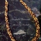 Golden Beaded Kumihimo Rope Necklace $79.