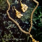 "30"" Florentine Gold Overlay Tassel Necklace & Earring Set $89."