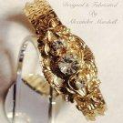 18K Gold Overlay Crystal Expansion Bracelet $79