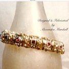 Clear and Amethyst Color Swarovski Crystal Station Bracelet $69