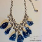 Cobalt Blue Wire Wrapped Beach Glass Necklace $89