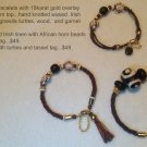 Set of 3 Tribal Motif Bracelets $99