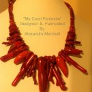"""My Coral Fantasea"" Necklace $169"