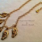 Hand Applied Gold Leaf 14K Gold overlay Chain Necklace $79