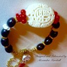 Red, Black, & Creamy White Hand Carved Coral Bracelet $69.