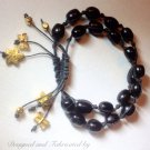 Artisan Knotted Black Coal Bracelet $29.