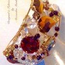 "Elegant14K Gold Fill ""Topaz"" & Swarovski Crystal Bracelet"