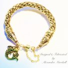 Custom Sized Gold Woven Metallic Cord Bracelet