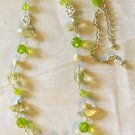 Long Citrusy Gemstones and Crystal Necklace