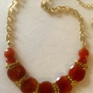 Optional  Lengths Artisan Crafted Red-Orange Gemstone Necklace