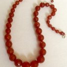 Classic Hand Knotted Carnelian Necklace