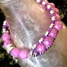 Little Girl's Pink and Purple Chan Lu Style Bracelet with Hidden Stretch Panel