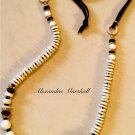 Womens Brown  & Ivory Long Tribal Chic Artisan Crafted Adjustable Necklace
