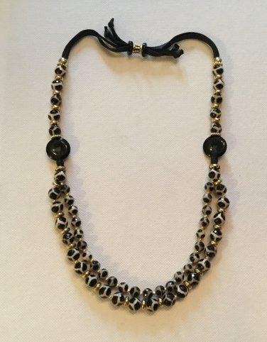 "Ladies Black and Tan 22"" - 26"" Gemstone Necklace"