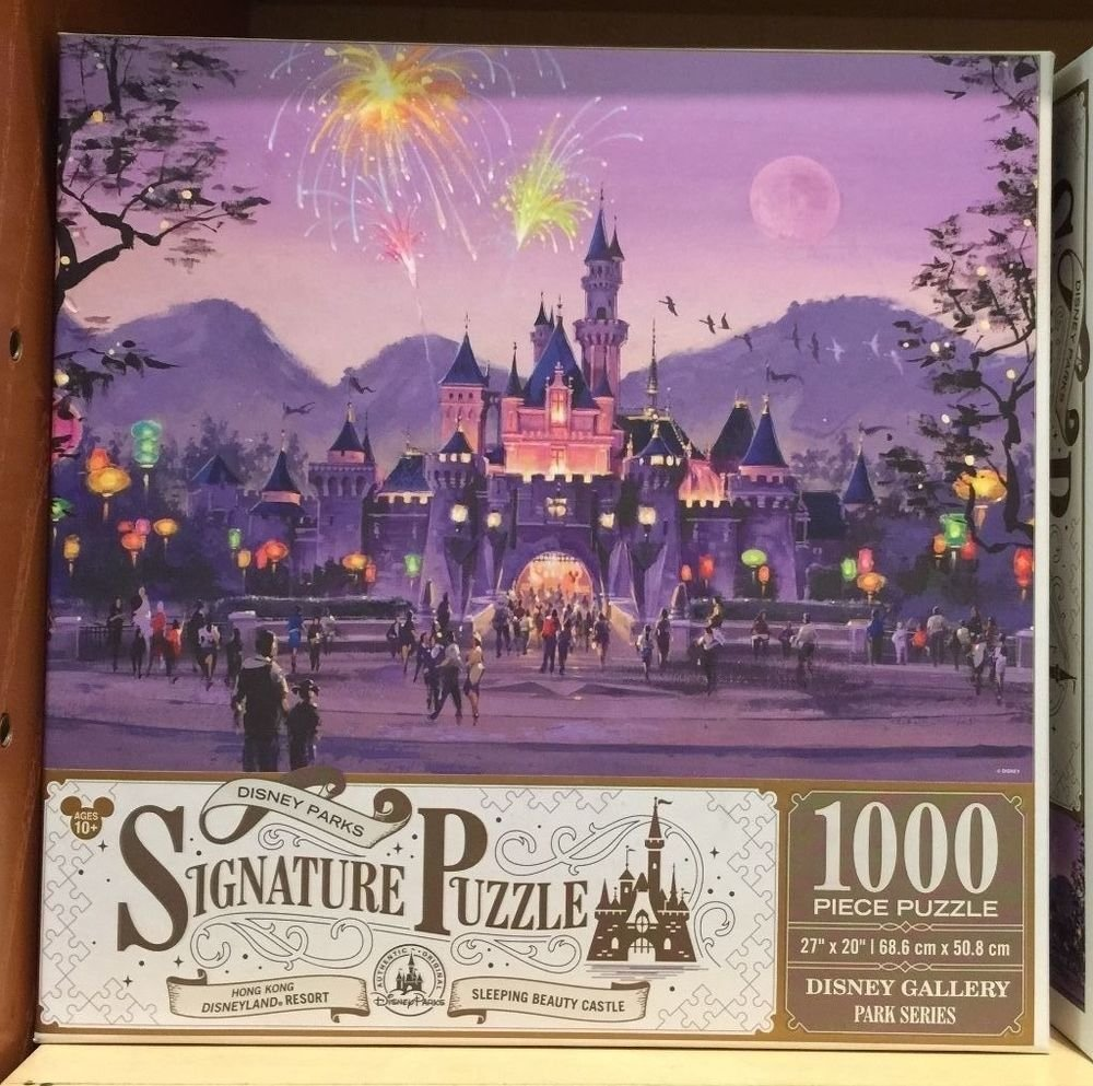 DISNEY PARKS EXCLUSIVE Sleeping Beauty Castle SIGNATURE PUZZLE 1000pc NEW