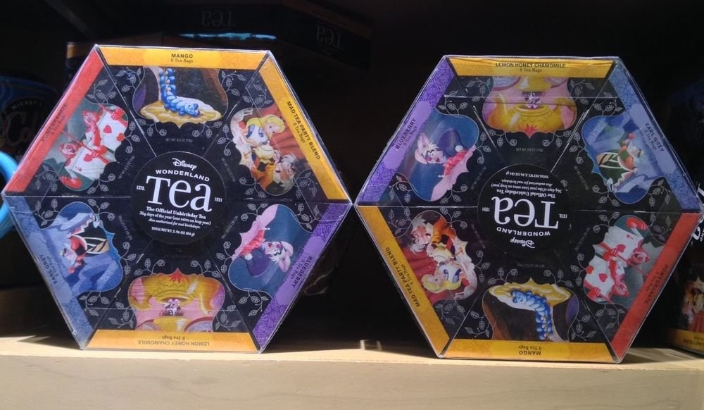 Alice In Wonderland Tea Gift Set 6 Flavors 48 Bags Disney Theme Parks NEW