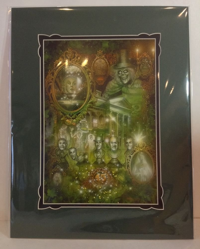 Disney's Haunted Mansion 45th Anniversary EVENING CONSTITUTION PRINT Tony Harris