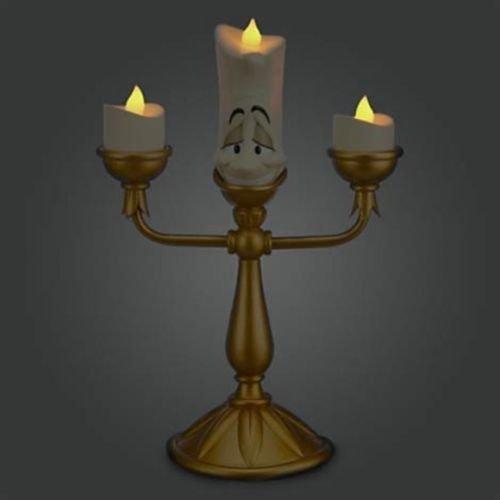 Disney Decorative Beauty And The Beast Lumiere Light Up Candelabra Figure NIB