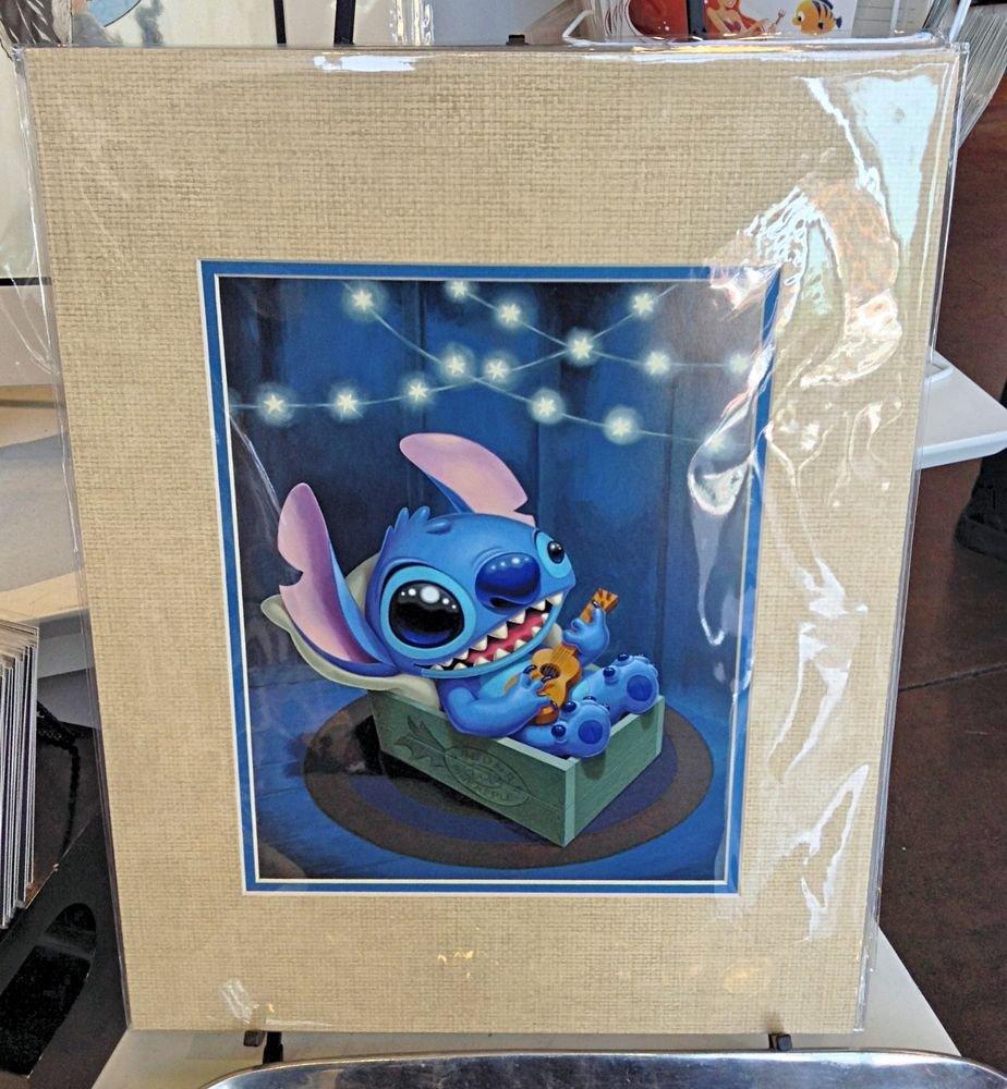 """Disney WonderGround Gallery """"STITCH SERENADE"""" Print by Kristin Tercek NEW"""
