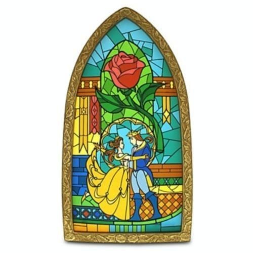 Disney Parks Beauty And The Beast Stained Glass Window Frame NEW