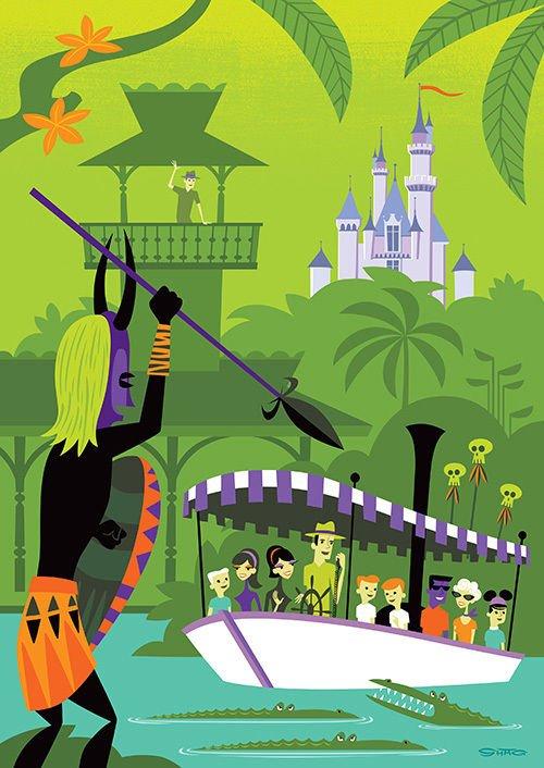 Disney WonderGround Diamond Celebration 60th Jungle Cruise Postcard by SHAG