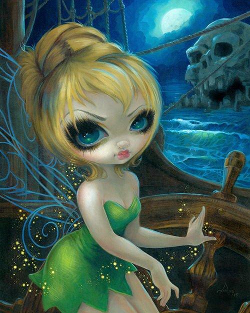 Disney WonderGround Tinker Bell at Skull Rock Print by Jasmine Becket-Griffith