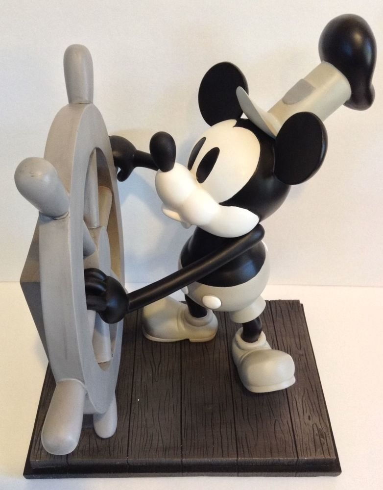 Disney Parks Mickey Mouse Steamboat Willie 85th Anniversary Medium Big Fig NEW!