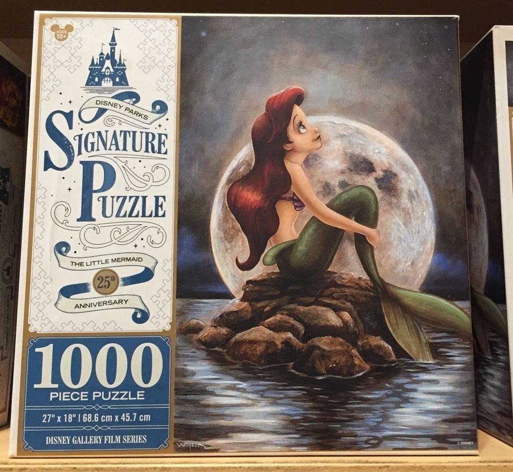 Disney Parks Ariel Little Mermaid Signature Puzzle 25th Anniversary 1000 Piece