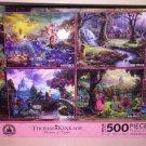 Disney Parks Thomas Kinkade Painter of Light Puzzle Set of 4 500 PC Pink NEW