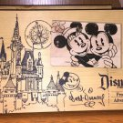 DISNEY PARKS WALT DISNEY WOOD PICTURE PHOTO FRAME 4X6 NEW
