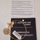 Disney World Parks Alex and Ani Frozen Elsa & Anna Gold Charm Bracelet Bangle