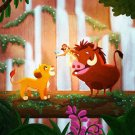 Disney WonderGround Gallery Lion King, No Worries Print by Nidhi Chanani NEW