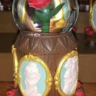 DISNEY PARKS BEAUTY AND THE BEAST MUSICAL SNOW GLOBE PLAYS-TALE AS OLD AS TIME