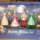 DISNEY PARKS DISNEY PRINCESS CINDERELLA PRINCE CHARMING FIGURINES DELUXE PLAYLET