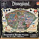 Disney Parks DISNEYLAND Decorative Border 1000 Piece Puzzle Map NEW