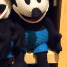 "Disney Parks Oswald the Lucky Rabbit Crochet Knit Plush Doll 15"" NEW"