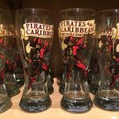 DISNEY PARKS EXCLUSIVE PIRATES OF THE CARIBBEAN GLASS CUP NEW (SET OF 2)
